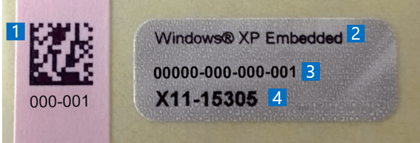 windows embedded standard license key