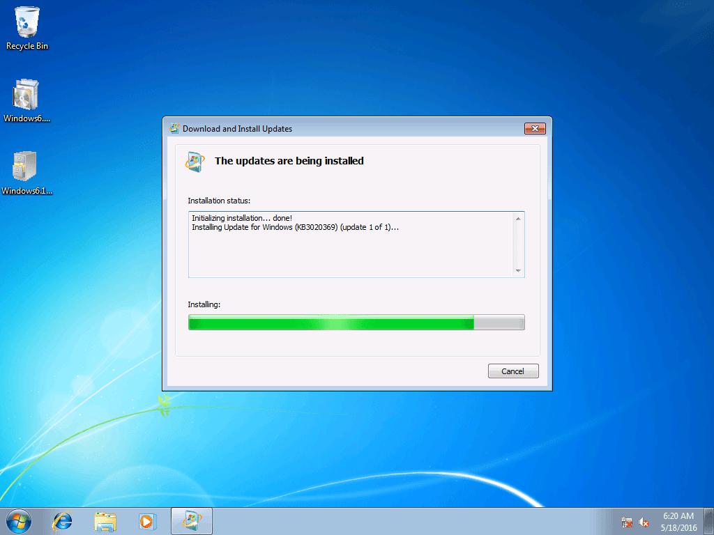 Install Update KB3125574 on Windows Embedded Standard 7