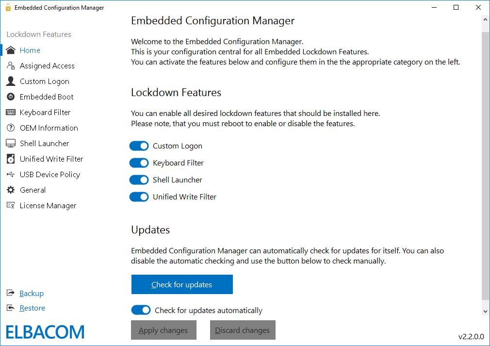 Embedded Configuration Manager – Elbacom GmbH
